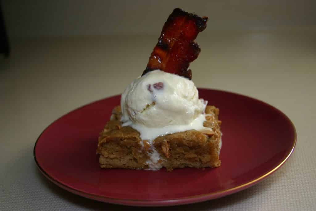 PB Blondie w/Maple Bacon Ice Cream
