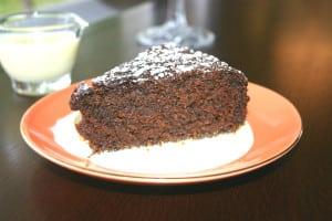 Ginger Cake with Lemon Creme Anglaise