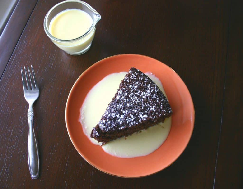 Ginger Cake with Lemon Creme Anglaise