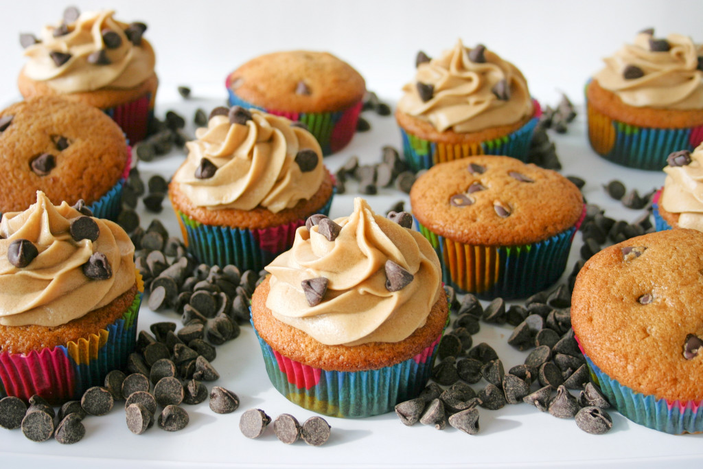 Chocolate Chip Cookie Dough Cupcakes | Kitchen Gidget