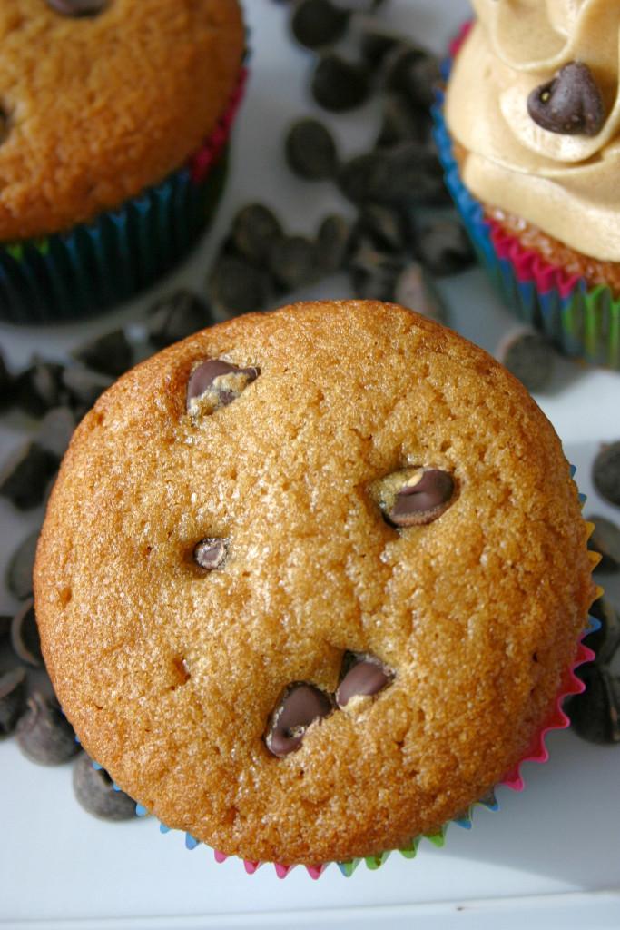 Chocolate Chip Cookie Dough Cupcakes   Kitchen Gidget