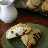 Dark Chocolate Chip Cream Scones
