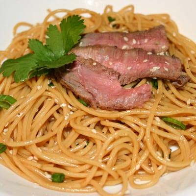 Easy Sesame Beef Noodles