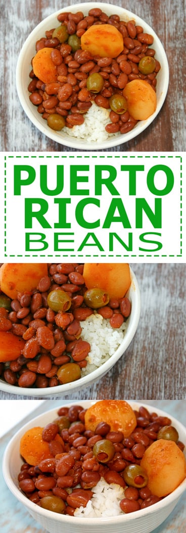 Puerto Rican Beans (Habichuelas Guisadas). Easy recipe for authentic Puerto Rican style beans - the most popular recipe on the blog!