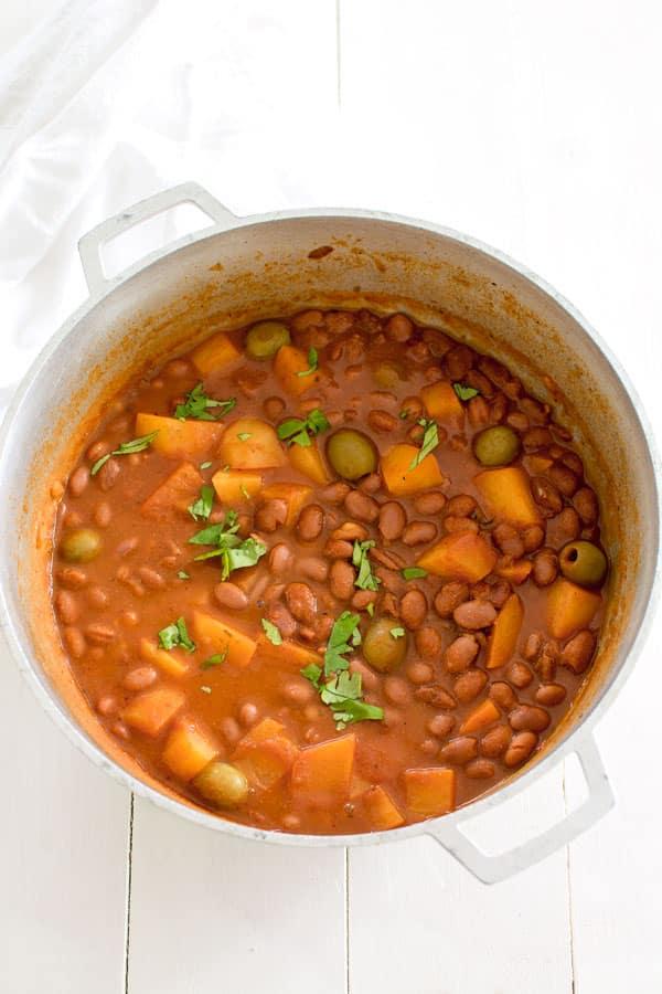 Puerto Rican Rice and Beans (Habichuelas Guisadas)