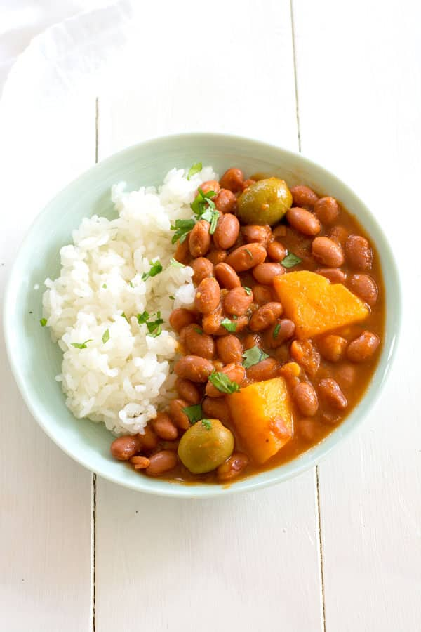 Puerto Rican Rice And Beans Habichuelas Guisadas Kitchen Gidget