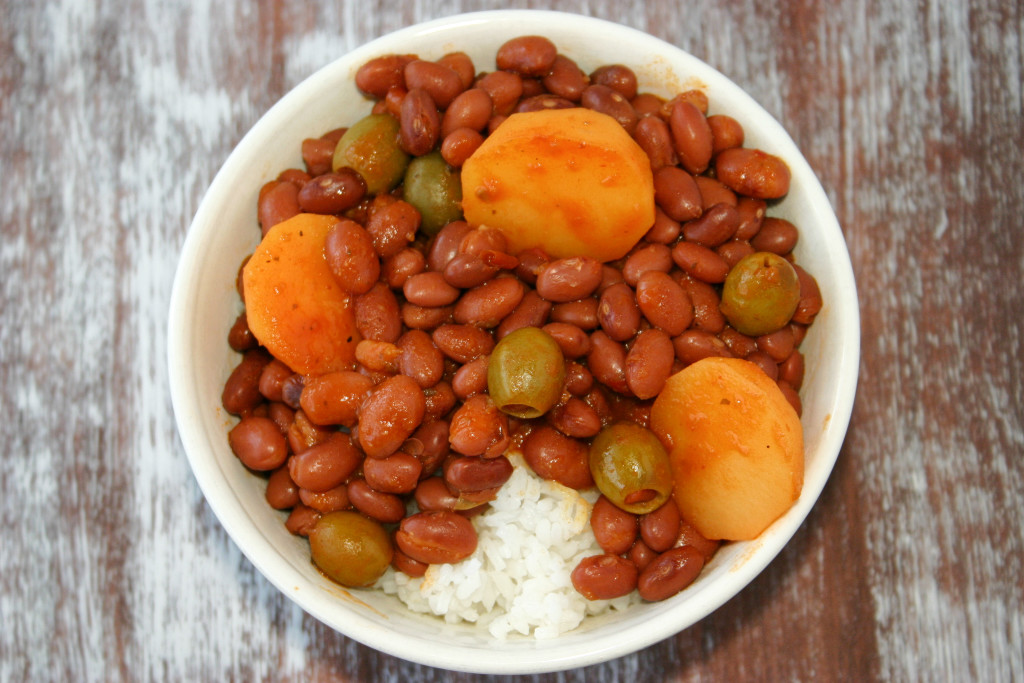 Puerto Rican Rice and Beans (Habichuelas Guisadas) | Kitchen Gidget