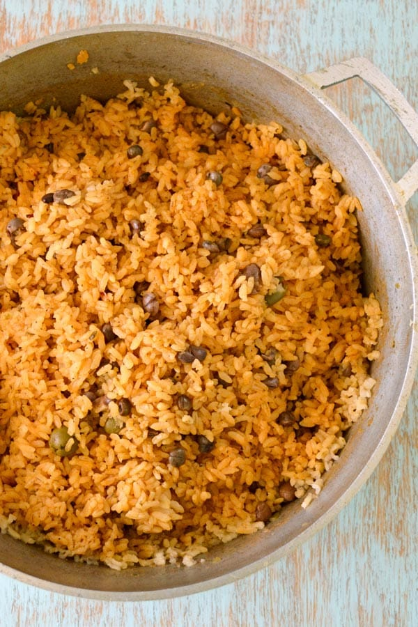 Puerto Rican Rice recipe - Arroz con Gandules (Rice with Pigeon Peas). The best rice in the world!