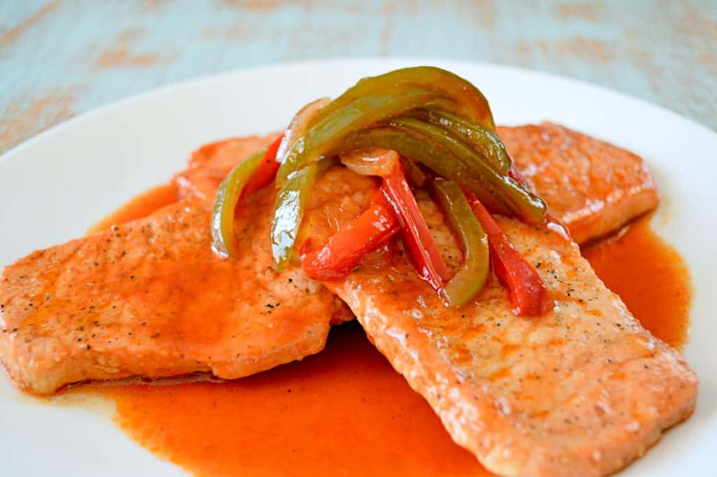 Puerto Rican Pork Chops | Kitchen Gidget