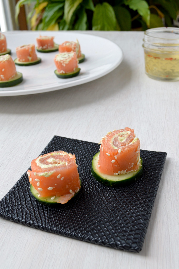 Salmon Avocado Spirals