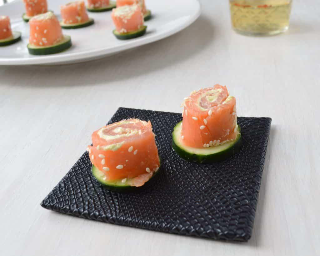 Salmon Avocado Spirals