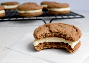 Chocolate & Vanilla Malt Cookies - Kitchen Gidget