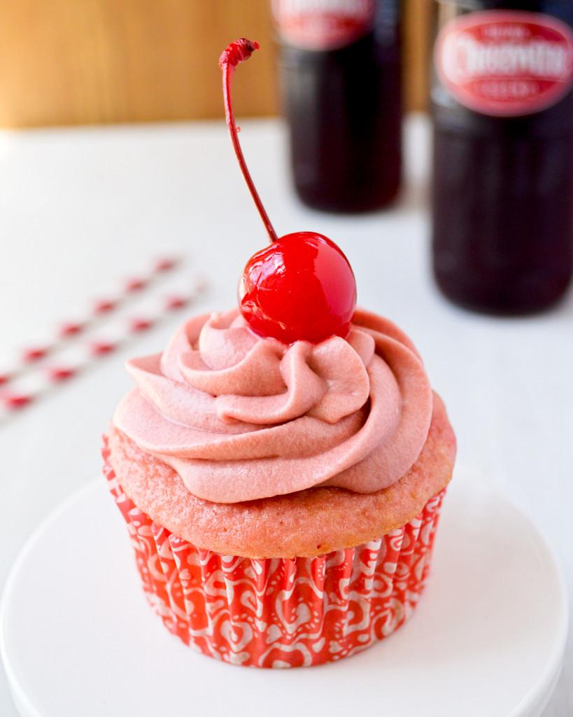 Cheerwine Cupcakes by Kitchen Gidget