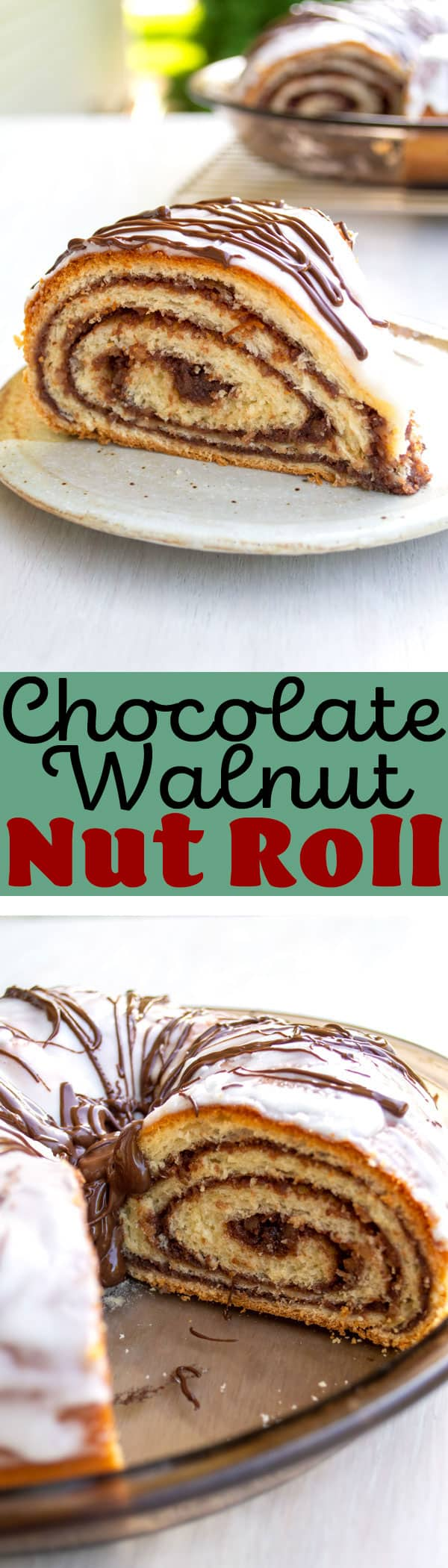 Potica - old fashioned Polish nut roll recipe with easy chocolate walnut filling! #christmas #breakfast