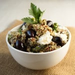 Quinoa Salad with Lemon Artichoke Pesto