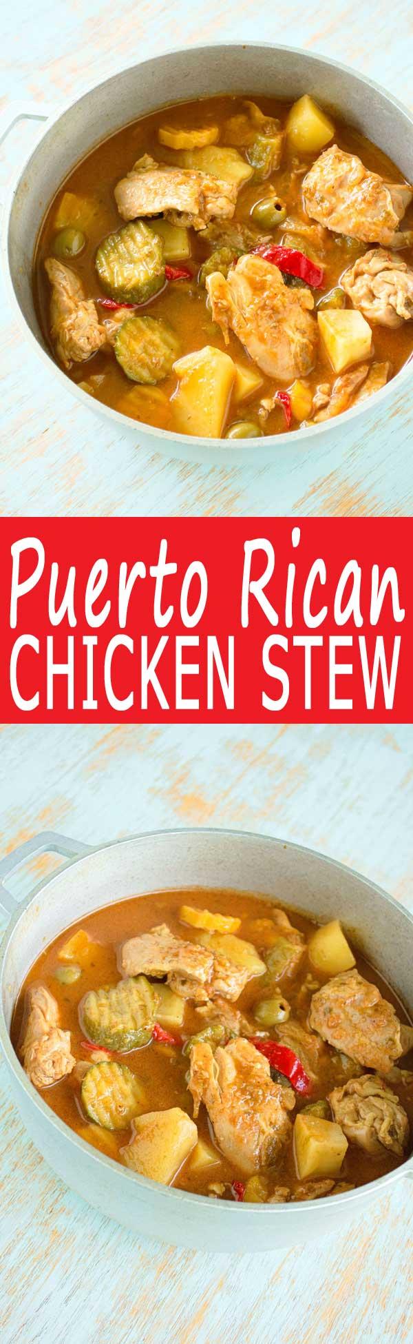 Puerto Rican Chicken Guisado De Pollo Kitchen Gidget