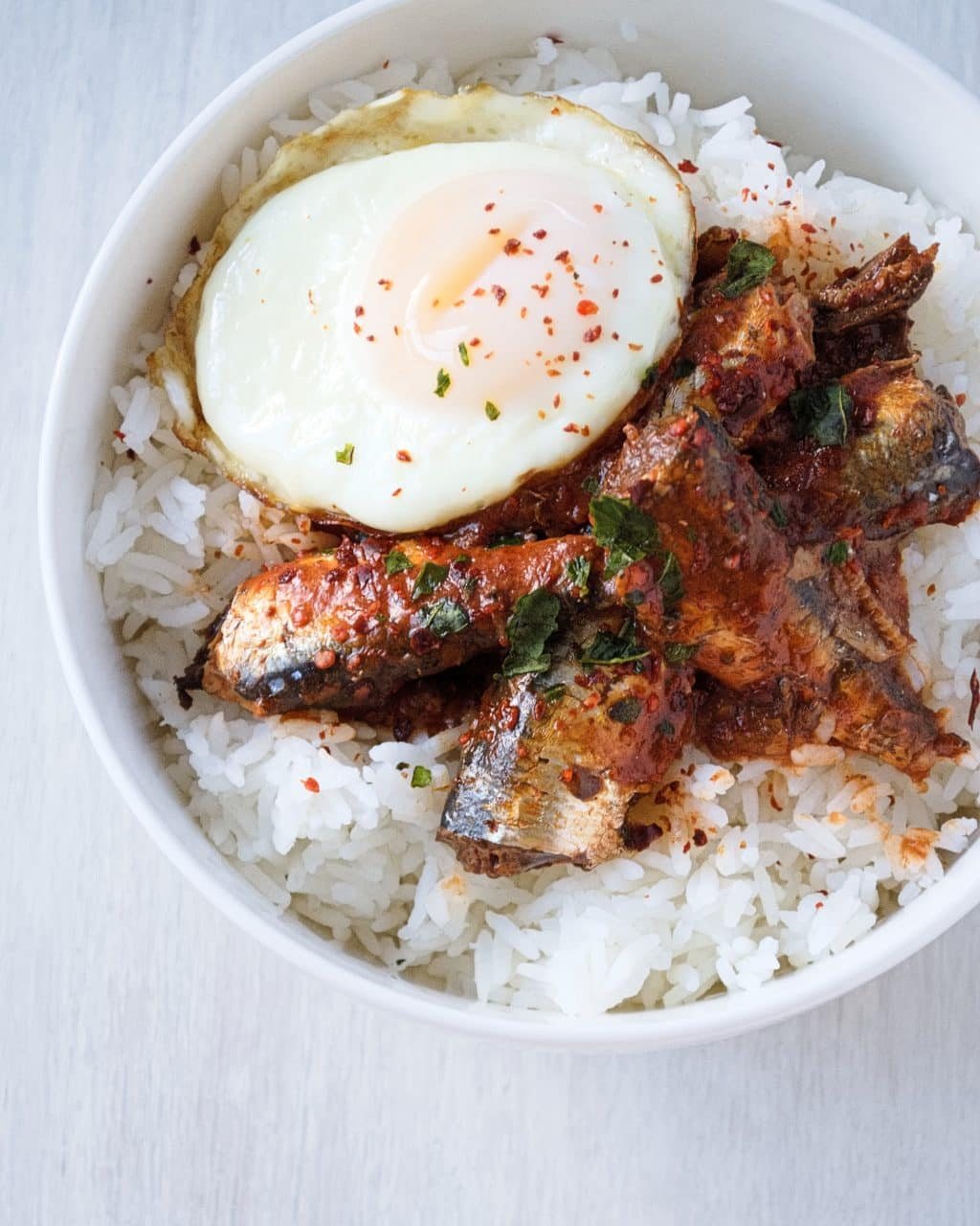 Sardine Rice Bowl with Egg