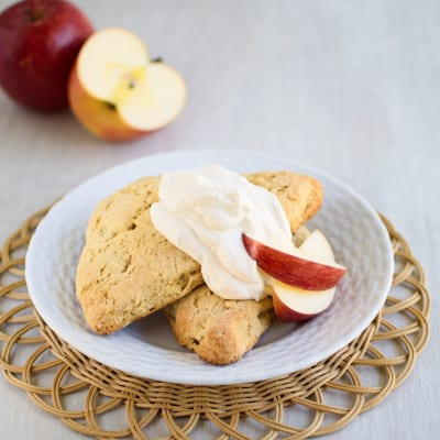 Apple Scones with Cinnamon Cream
