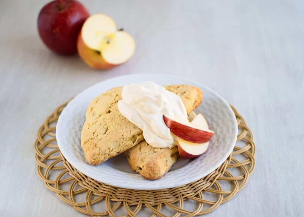 Apple Scones with Cinnamon Whipped Cream | Kitchen Gidget