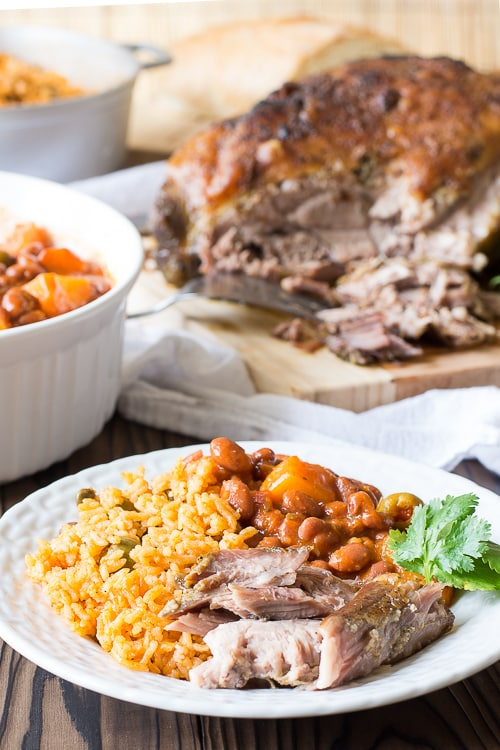 Puerto Rican Pernil (Roast Pork) is crispy, juicy and so full of flavor! The best roast pork I ever had! | Kitchen Gidget
