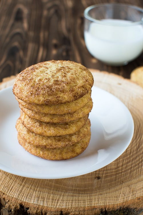 Soft and Chewy Snickerdoodle Cookies with that classic tang and crisp cinnamon sugar! | Kitchen Gidget