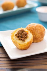 Puerto Rican Papas Rellenas (Stuffed Potatoes)