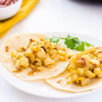 Papas con Huevos (Potato & Egg Tacos)