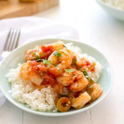 Camarones Guisados (Puerto Rican Stewed Shrimp)