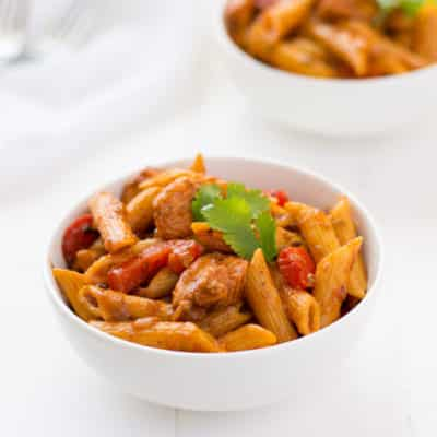 Puerto Rican Chicken Pasta