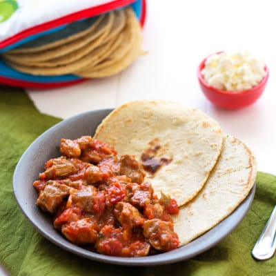 Mexican Pork Stew (Puerco en Salsa Roja)