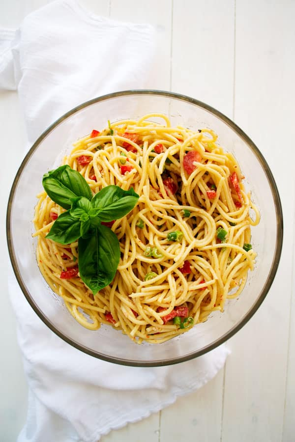 Spaghetti Salad With Italian Dressing Kitchen Gidget