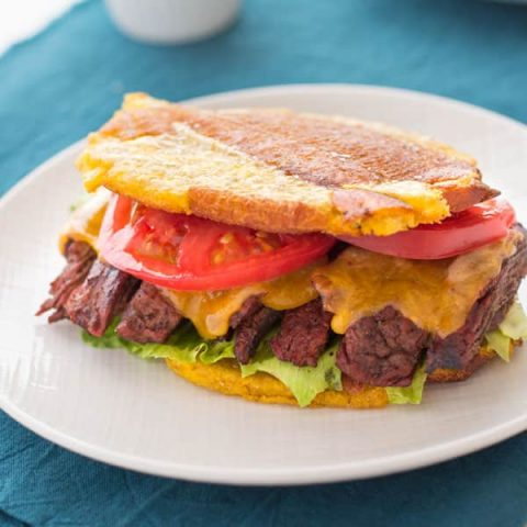 Jibarito Recipe: Puerto Rican sandwich with steak using plantains instead of bread!