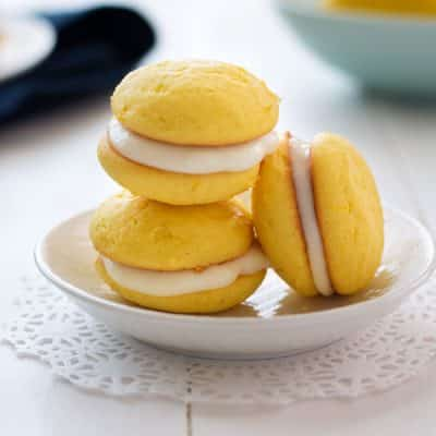 Lemon Ricotta Sandwich Cookies