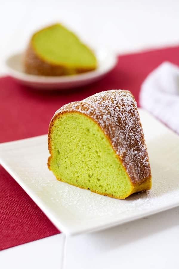 Easy Pistachio Bundt Cake using pistachio pudding and box cake mix !