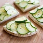 Cucumber Cream Cheese Sandwiches with zesty cream cheese and crisp cucumbers on soft pita bread!