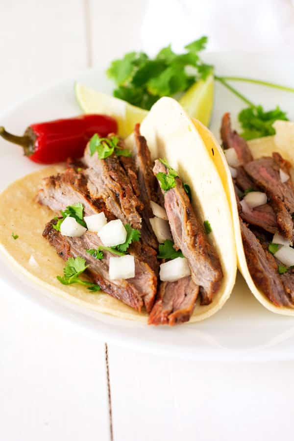 Treat yourself to Mexican at home with these authentic carne asada tacos!