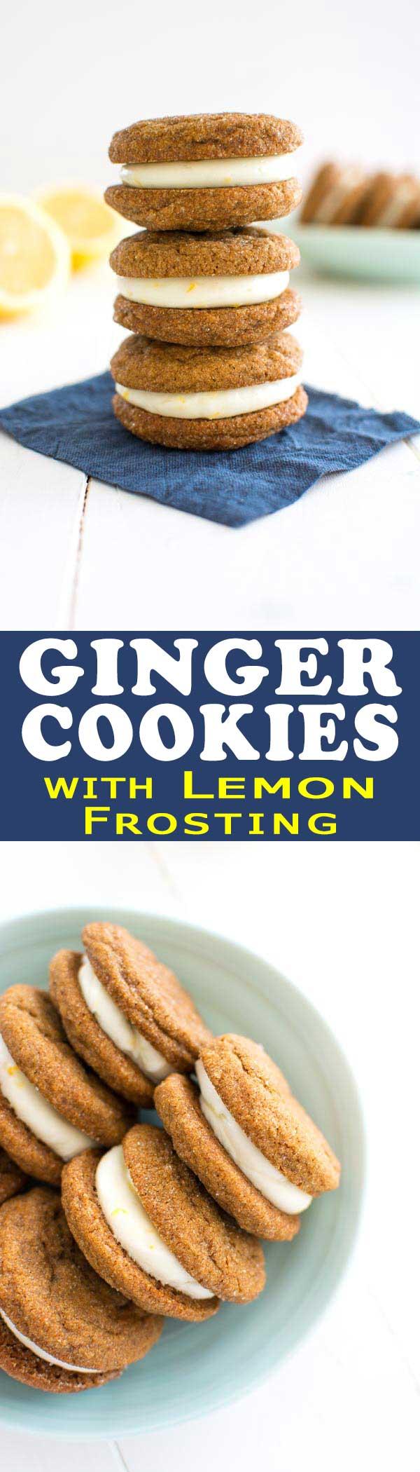 Ginger Lemon Cookies Kitchen Gidget