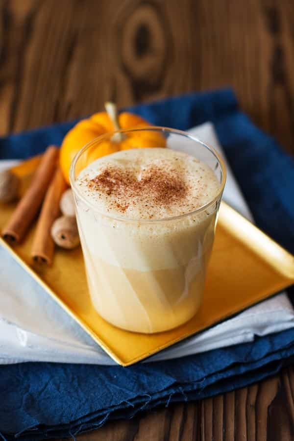 ... eggnog! Rich and creamy with cinnamon, nutmeg, pumpkin spice and real