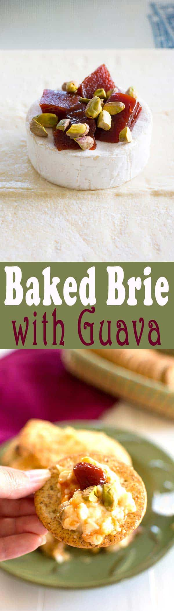 Classic French appetizer meets sweet tropical treat! You'll be the toast of the party with this baked Brie Cheese with Guava!