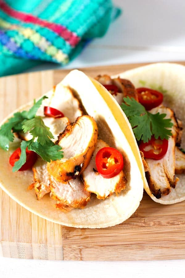 Easy grilled chicken tacos marinade.