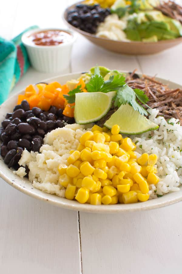 Burrito Bowls are so easy with this homemade burrito bowl recipe!