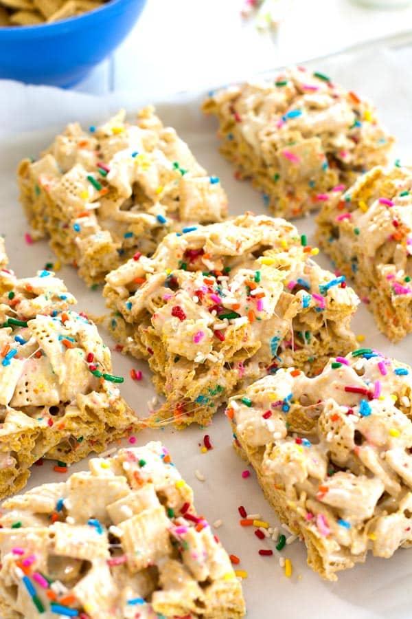 Funfetti Marshmallow Crispy Treats Kitchen Gidget