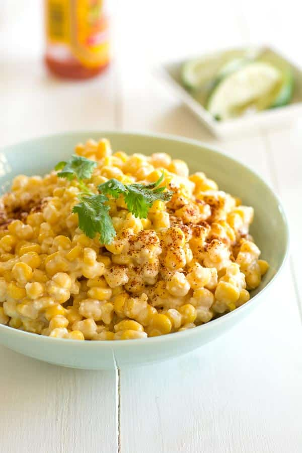 Mexican Corn in a Cup recipe (Elotes). Now you can have this street food at home!