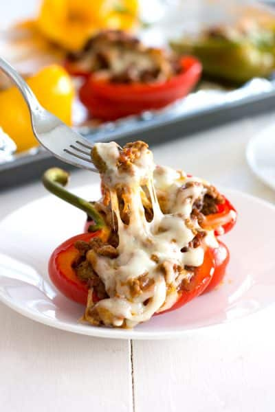 Picadillo Stuffed Peppers
