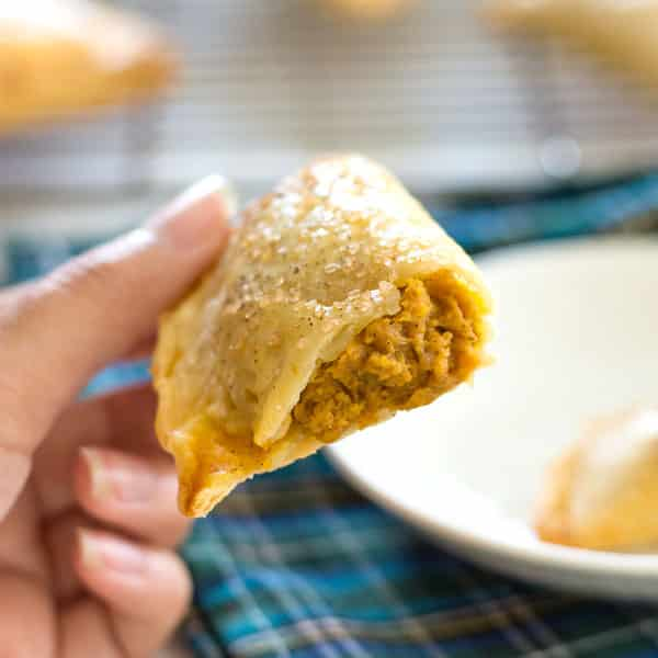 Mini Pumpkin Hand Pies - a fun Fall dessert or Thanksgiving treat!