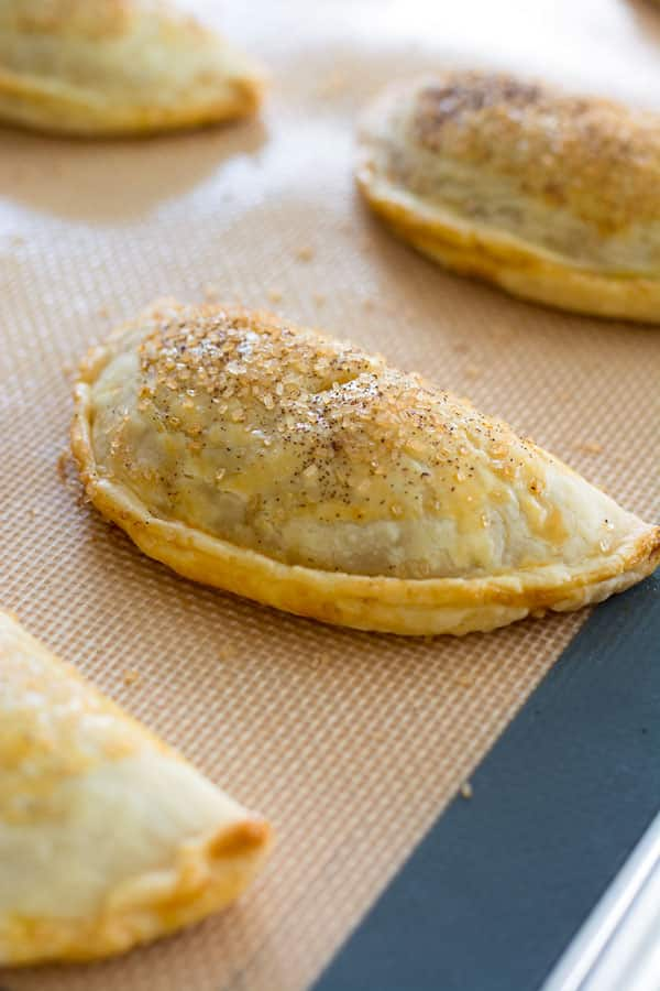 Pumpkin Hand Pies with a crunchy cinnamon sugar topping!