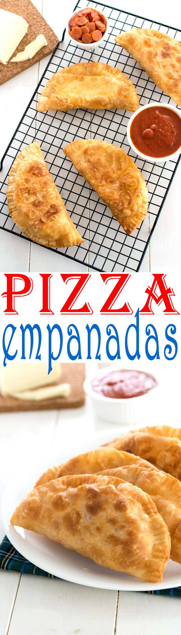 Easy Puerto Rican Pizza Empanadas (empanadillas de pizza) with pepperoni and cheese! #piday #recipes #recipe #recipeideas #easyrecipe #food #foodgawker #foodblog #recipeoftheday #appetizer #cheese #partyfood #dinner #pepperoni #pizza #empanadas #puertorican