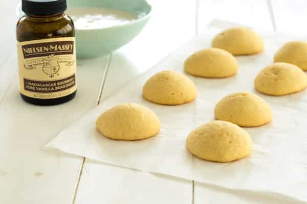 Vanilla Cookies with Vanilla Bean Glaze