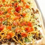 Taco Pizza Appetizer