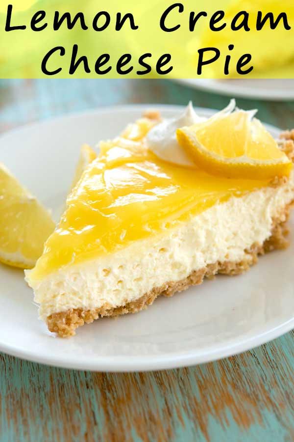 Lemon Cream Cheese Pie No Bake Kitchen Gidget